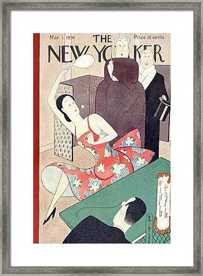 New Yorker March 1st, 1930 Framed Print by Rea Irvin