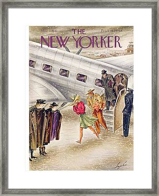 New Yorker March 1st, 1941 Framed Print by Constantin Alajalov