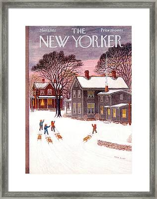 New Yorker March 1st, 1952 Framed Print by Edna Eicke