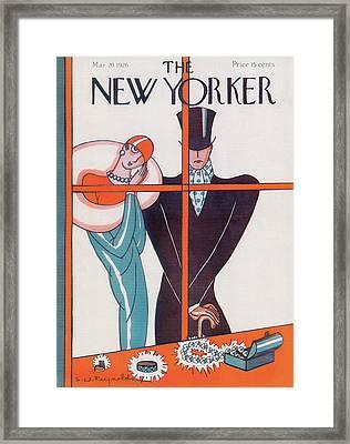 New Yorker March 20th, 1926 Framed Print by Stanley W. Reynolds