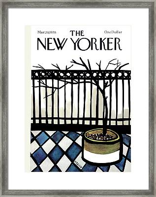 New Yorker March 20th, 1978 Framed Print by Donald Reilly