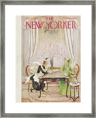 New Yorker March 21st, 1959 Framed Print by Mary Petty