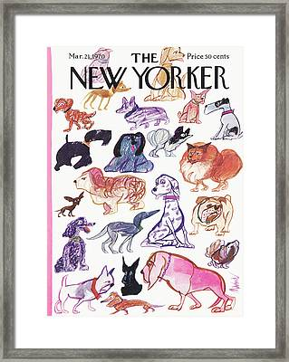 New Yorker March 21st, 1970 Framed Print