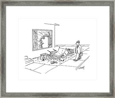 New Yorker March 21st, 1988 Framed Print by Tom Cheney