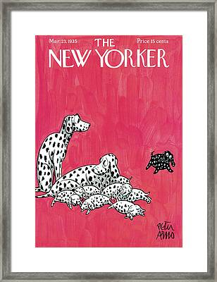 New Yorker March 23rd, 1935 Framed Print