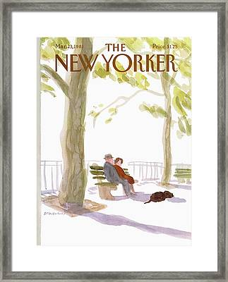 New Yorker March 23rd, 1981 Framed Print by James Stevenson