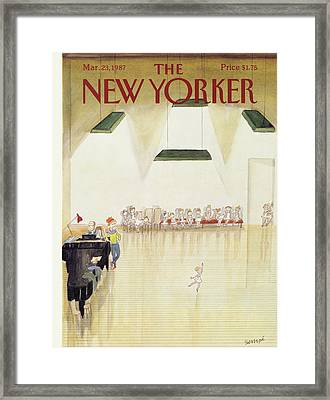 New Yorker March 23rd, 1987 Framed Print by Jean-Jacques Sempe