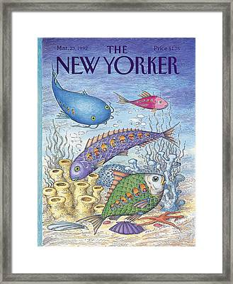 New Yorker March 23rd, 1992 Framed Print