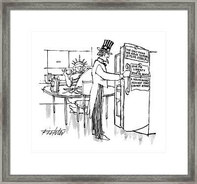New Yorker March 23rd, 1992 Framed Print by Mischa Richter