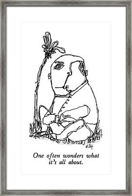 New Yorker March 23rd, 1992 Framed Print by William Steig