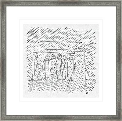 New Yorker March 24th, 1951 Framed Print by Saul Steinberg