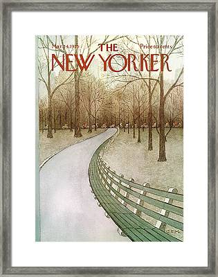 New Yorker March 24th, 1975 Framed Print by Charles E. Martin