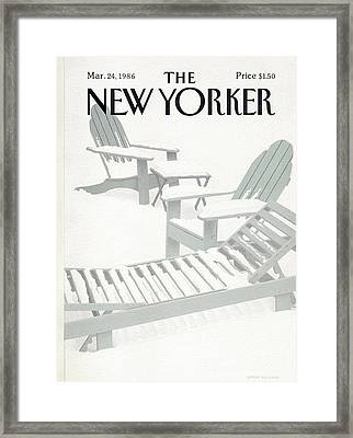 New Yorker March 24th, 1986 Framed Print by Gretchen Dow Simpson