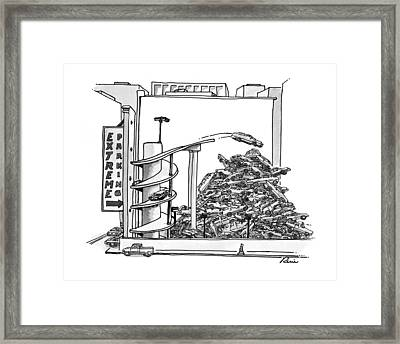 New Yorker March 24th, 1997 Framed Print by J.P. Rini