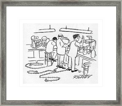 New Yorker March 25th, 1950 Framed Print by Mischa Richter