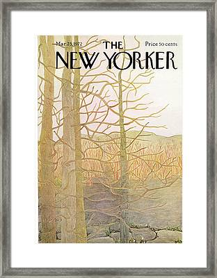 New Yorker March 25th, 1972 Framed Print