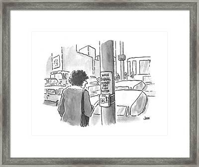 New Yorker March 25th, 1996 Framed Print by John Jonik