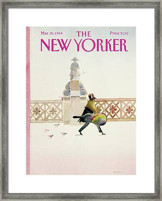 New Yorker March 26th, 1984 Framed Print by Susan Davis