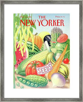 New Yorker March 26th, 1990 Framed Print