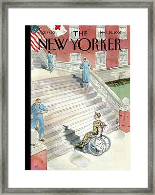 New Yorker March 26th, 2007 Framed Print by Barry Blitt