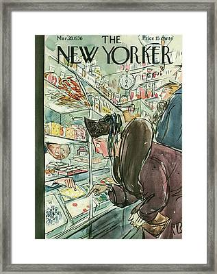 New Yorker March 28th, 1936 Framed Print by Perry Barlow