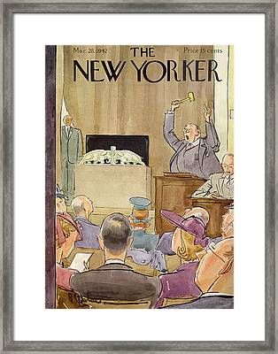 New Yorker March 28th, 1942 Framed Print