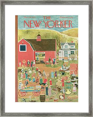 New Yorker March 28th, 1953 Framed Print