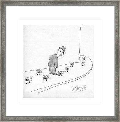 New Yorker March 28th, 1977 Framed Print by Sam Gross