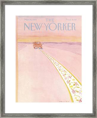 New Yorker March 28th, 1983 Framed Print