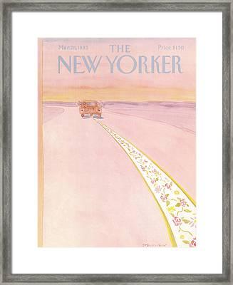 New Yorker March 28th, 1983 Framed Print by James Stevenson