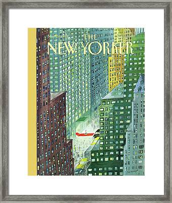 New Yorker March 28th, 1994 Framed Print