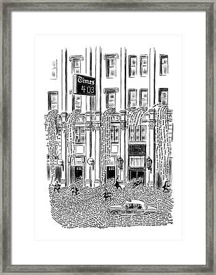 New Yorker March 29th, 1969 Framed Print by Robert J. Day