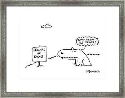 New Yorker March 29th, 1999 Framed Print by Charles Barsotti