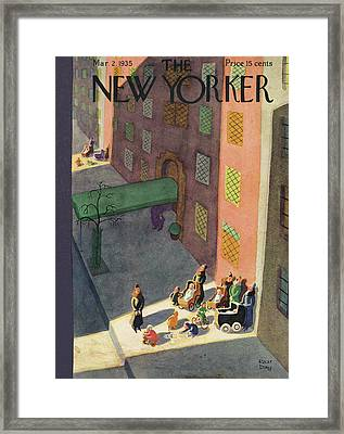 New Yorker March 2nd, 1935 Framed Print by Robert J. Day
