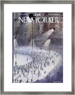 New Yorker March 2nd, 1957 Framed Print by Garrett Price