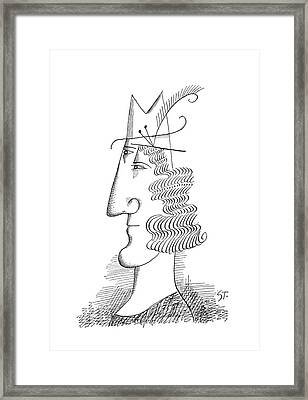 New Yorker March 30th, 1963 Framed Print by Saul Steinberg