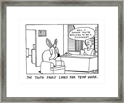 New Yorker March 30th, 1992 Framed Print by Bruce Eric Kaplan