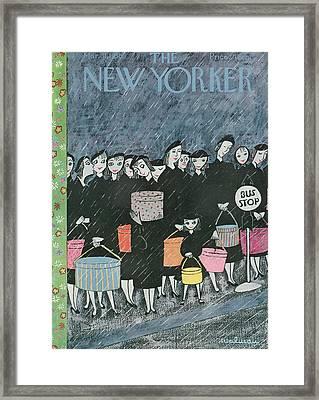 New Yorker March 31st, 1956 Framed Print by Christina Malman