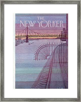 New Yorker March 31st, 1980 Framed Print by Charles E. Martin