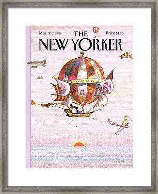 New Yorker March 31st, 1986 Framed Print by Andrej Czeczot