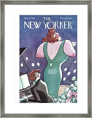 New Yorker March 3rd, 1928 Framed Print by Peter Arno