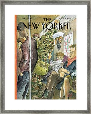New Yorker March 3rd, 2003 Framed Print by Edward Sorel
