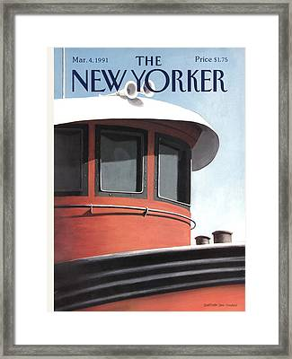 New Yorker March 4th, 1991 Framed Print