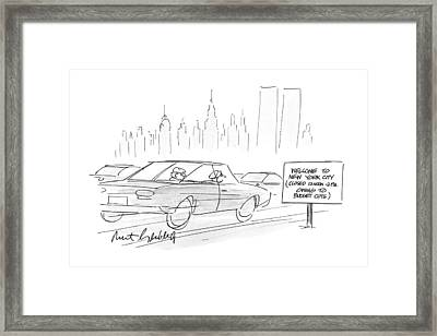 New Yorker March 5th, 1990 Framed Print