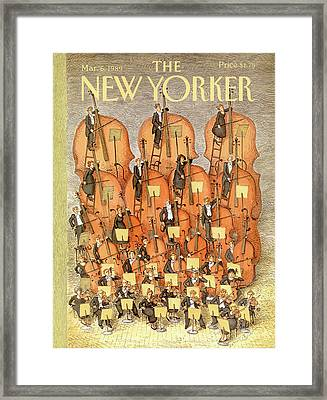 New Yorker March 6th, 1989 Framed Print