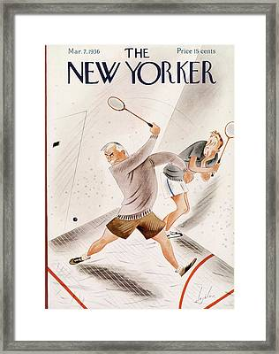 New Yorker March 7th, 1936 Framed Print by Constantin Alajalov