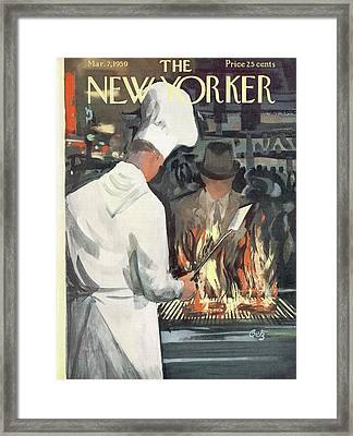 New Yorker March 7th, 1959 Framed Print by Arthur Getz