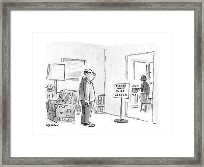 New Yorker March 7th, 1988 Framed Print