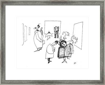 New Yorker March 8th, 1958 Framed Print