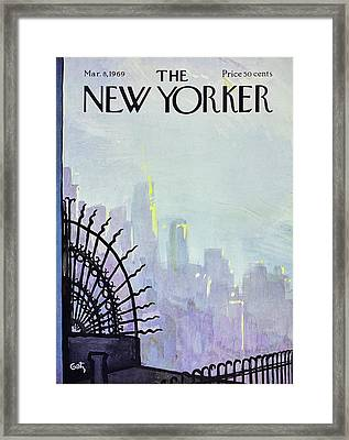 New Yorker March 8th 1969 Framed Print